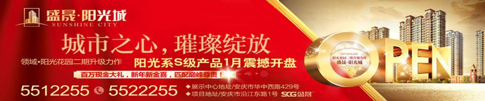 1月12日安庆盛晟阳光城开盘盛典隆重启幕