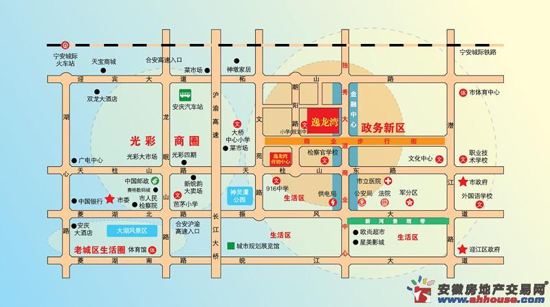 逸龙湾交通图