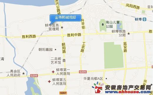 金伟熙城观邸交通图