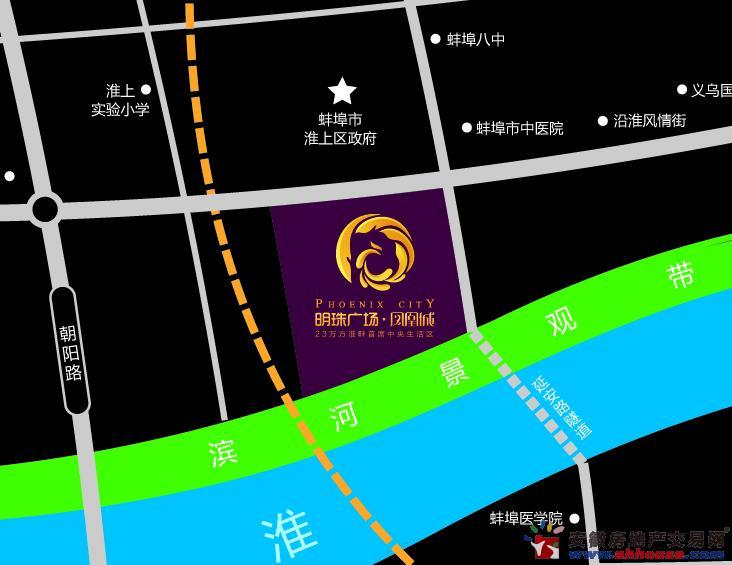 明珠广场·凤凰城交通图