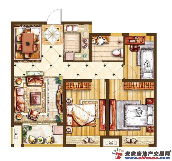新威龙门悦府_3室2厅1卫厨