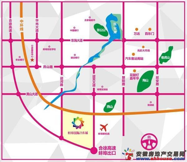 蚌埠(皖北)国际汽车城交通图
