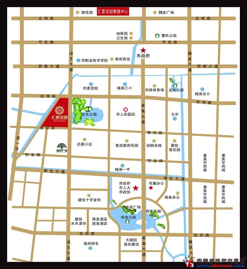 汇景花园交通图