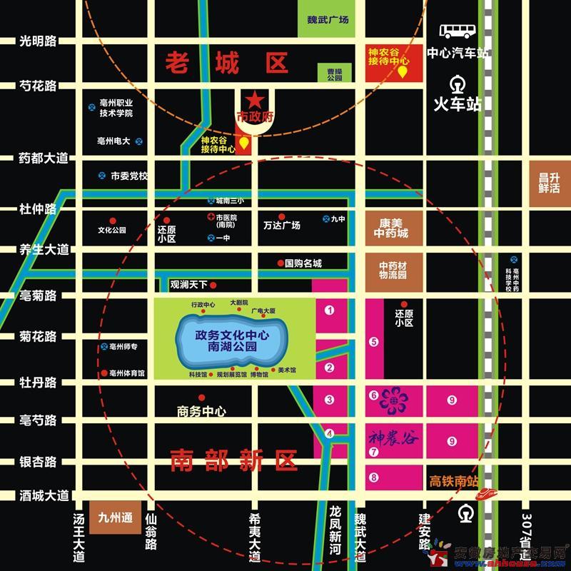 珍宝岛·神农谷交通图