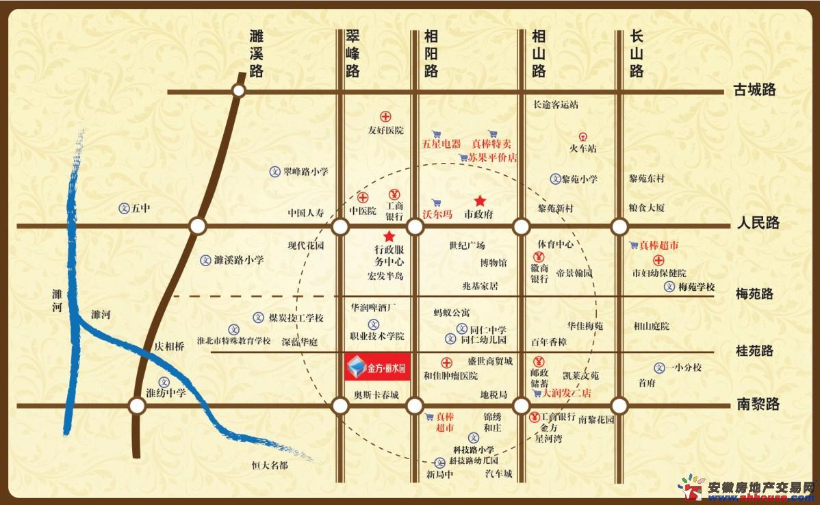 金方丽水园交通图