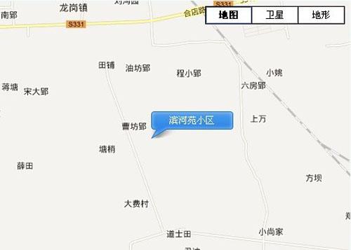 滨河苑小区交通图