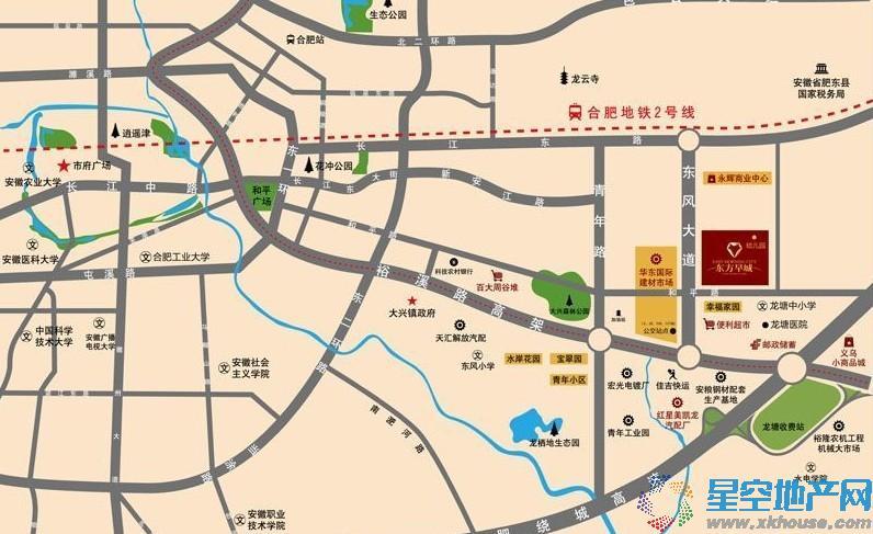 东方早城交通图