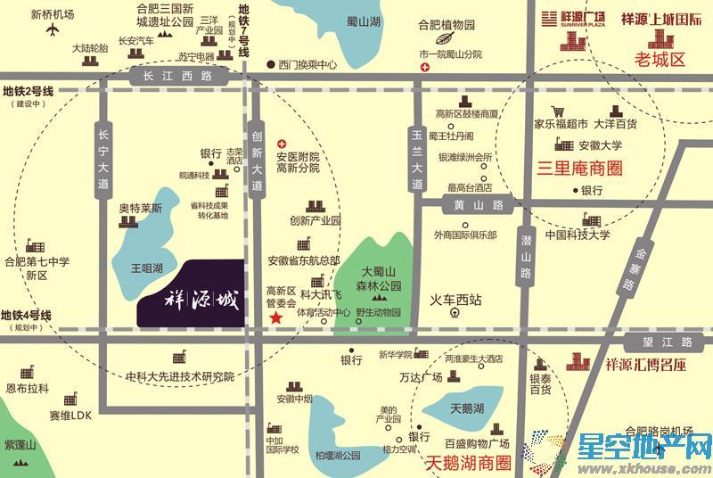祥源城湖山别墅交通图