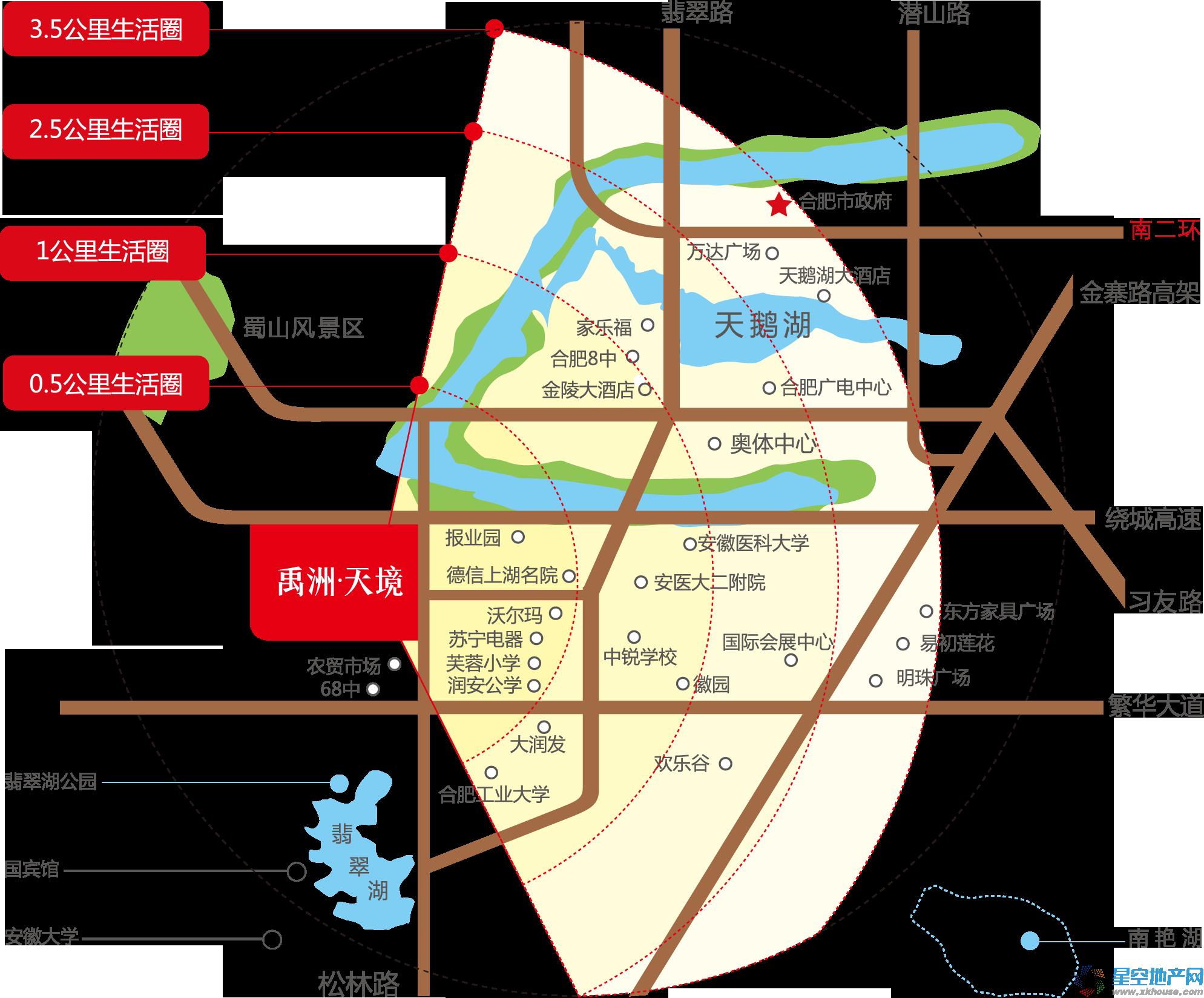 禹洲天境交通图