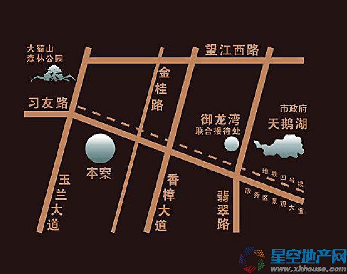 御景城交通图