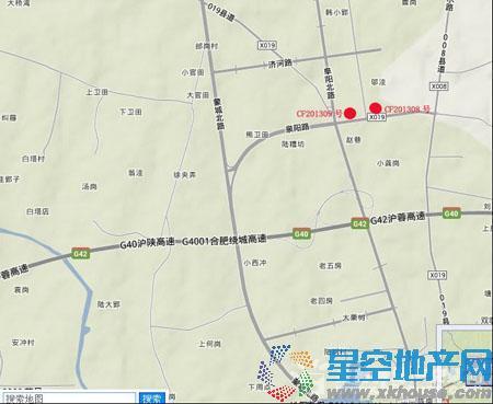长丰CF201308地块交通图