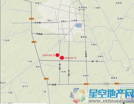 安徽昊辉置业长丰CF201303号地块交通图