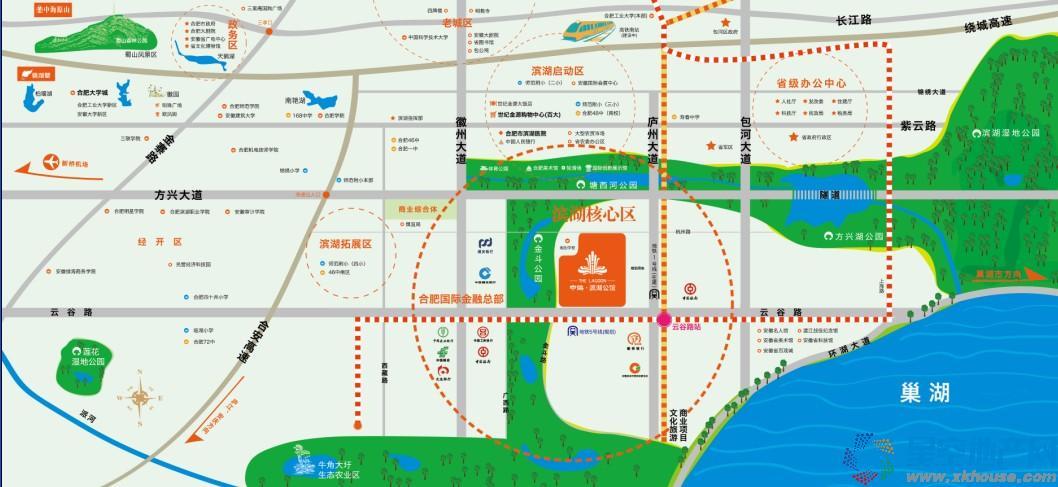 中海滨湖公馆交通图