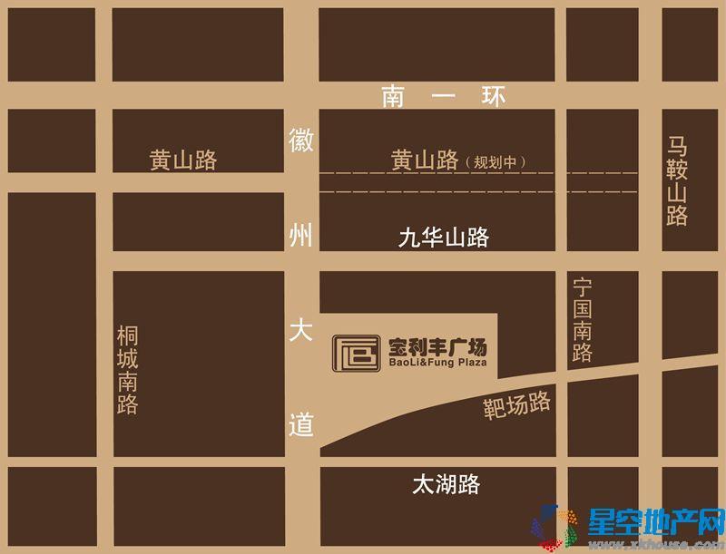 宝利丰广场·爱情公寓交通图