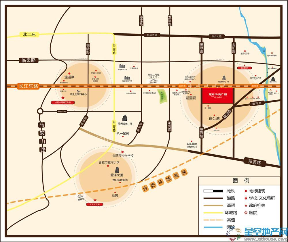 禹洲中央广场交通图