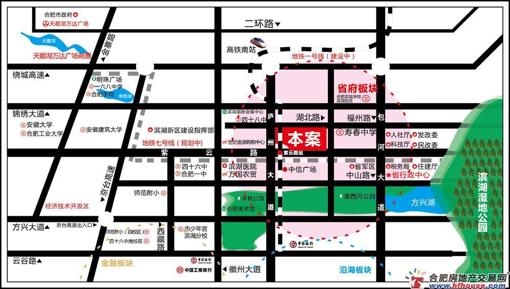 利港银河广场交通图