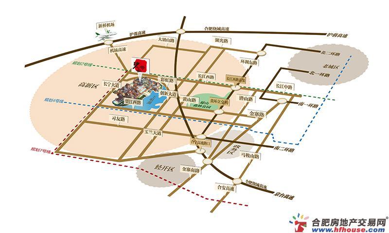砂之船(合肥)奥特莱斯艺术商业广场交通图