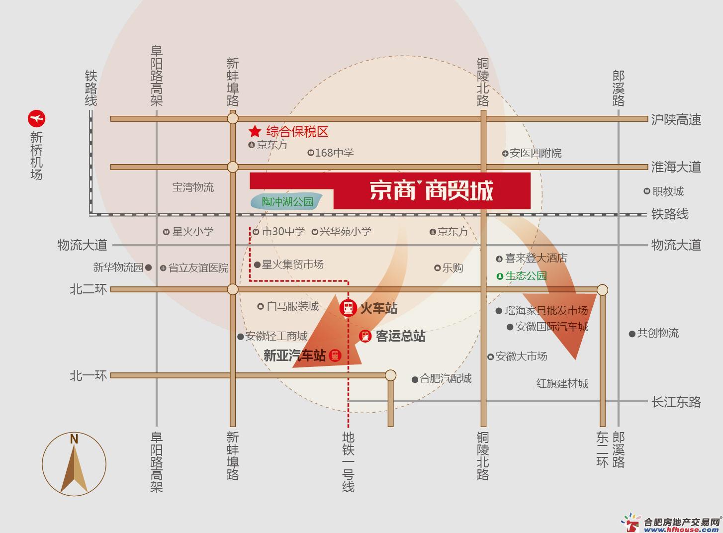 京商商贸城交通图