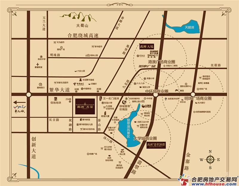 禹洲天玺交通图