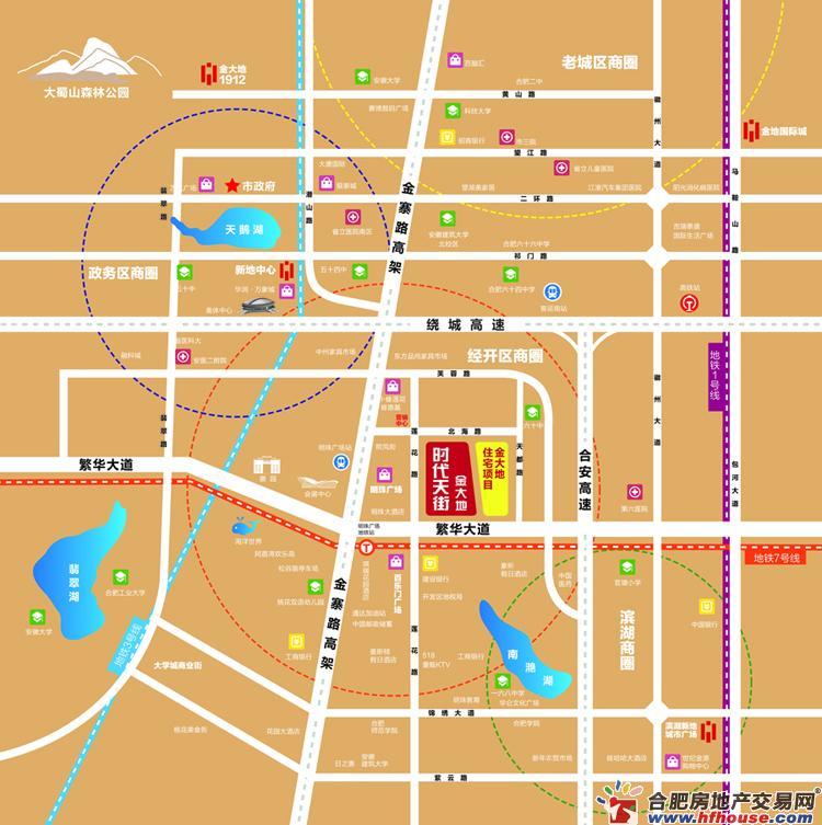 金大地·时代天街交通图
