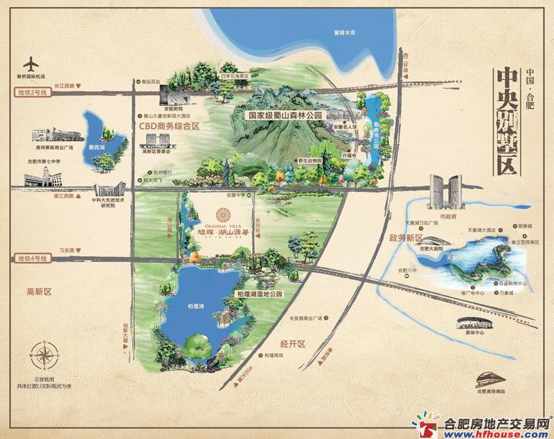 旭辉·湖山源著交通图
